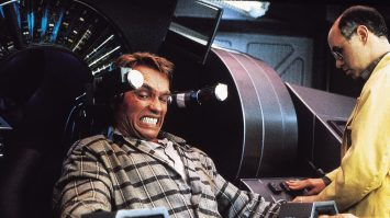 Arnold Schwarzenegger in Paul Verhoeven's TOTAL RECALL (1990). Courtesy Rialto Pictures. Playing 8/10-8/16