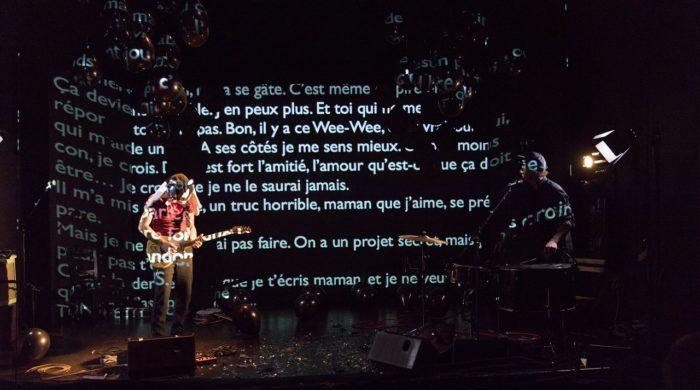GUS, de Sébastien Barrier, Grand T, Nantes, le 22/11/17. Avec Sébastien Barrier et Nicolas Lafourest