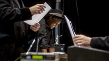 Repetition musicale de Billy The Kid. Mise en scene Jean Lacornerie; compositeur Gavin Bryars ; direction musicale Gerard Lecointe ; choregraphie Raphael Cottin