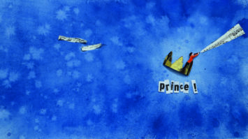 Illustration de couverture pour le livre-cd «Prince !» / écriture et composition Sophie Bœuf / éditions des Braques - sortie mars 2017