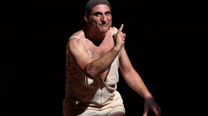04/07/2017 60 Festival dei 2 Mondi di Spoleto. Teatro Caio Melisso, spettacolo La Scorticata testo e regia di Emma Dante. Nella foto Salvatore D'Onofrio