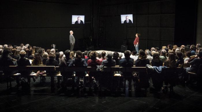 """""""C'est la vie"""", mis en scène par Mohamed El Khatib, avec Fanny Catel et Daniel Kenigsberg, au Centre Dramatique National d'Orléans, le 17 mars 2017"""