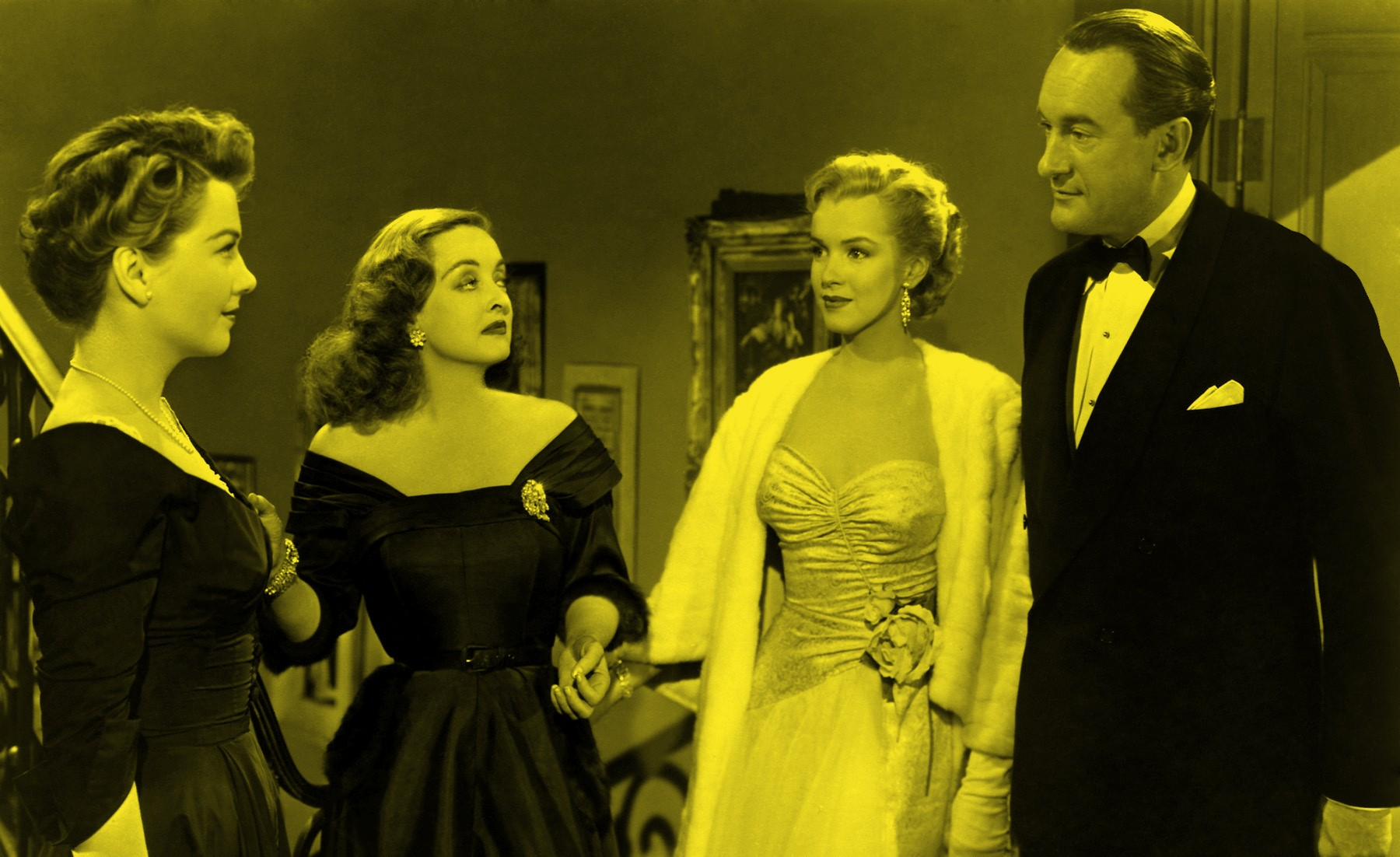 anne baxter, bette davis, marilyn monroe & george sanders – all about eve 1950